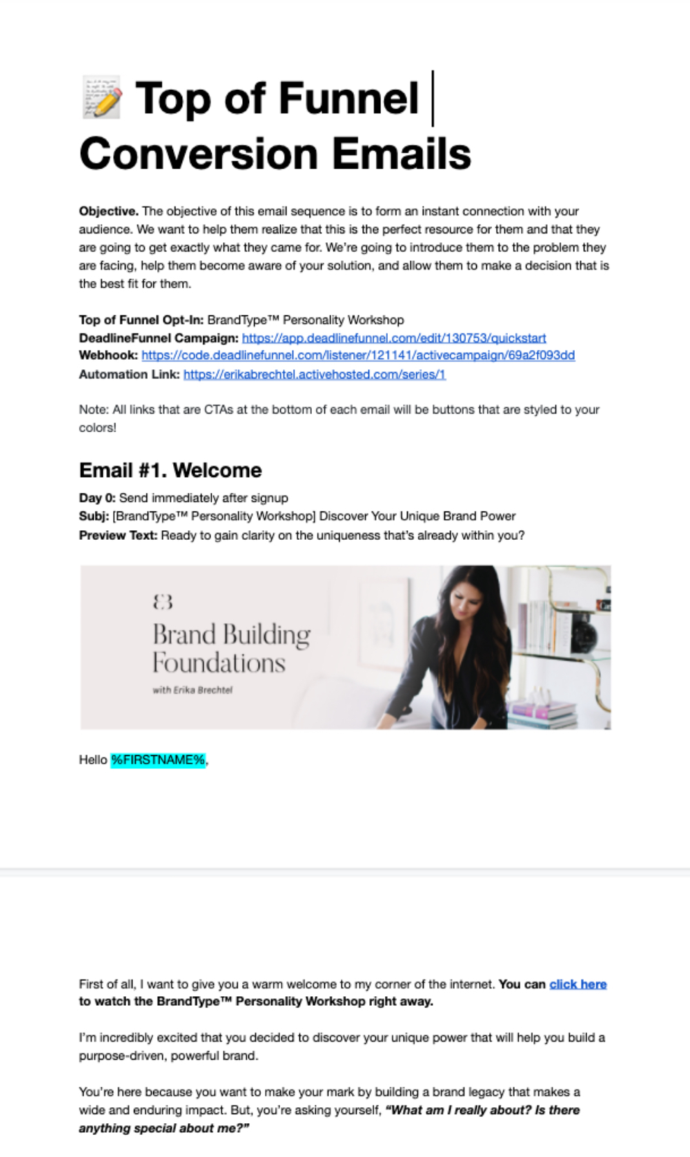 Conversion Emails